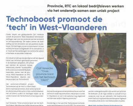 01-06-2018 - Technoboost promoot de 'tech' in West-Vlaanderen - Burgerkrant